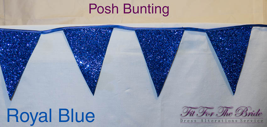 Posh Bunting - Royal Blue
